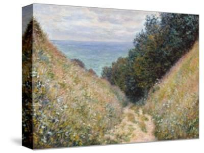 Road at La Cavée, Pourville-Claude Monet-Stretched Canvas Print