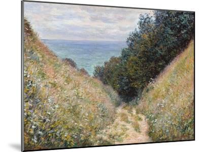 Road at La Cavée, Pourville-Claude Monet-Mounted Premium Giclee Print