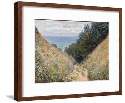 Road at La Cavée, Pourville-Claude Monet-Framed Premium Giclee Print