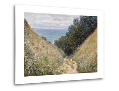 Road at La Cavée, Pourville-Claude Monet-Metal Print