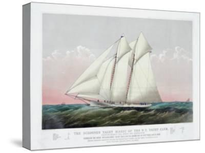 The Schooner Yacht Magic of the New York Yacht Club-Currier & Ives-Stretched Canvas Print