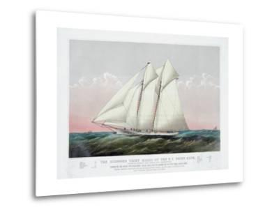 The Schooner Yacht Magic of the New York Yacht Club-Currier & Ives-Metal Print