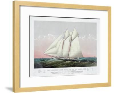 The Schooner Yacht Magic of the New York Yacht Club-Currier & Ives-Framed Giclee Print