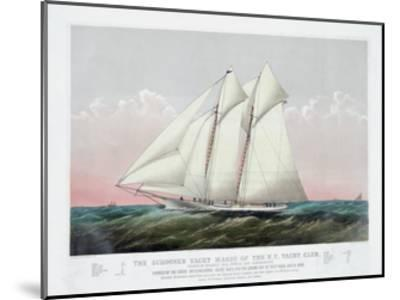 The Schooner Yacht Magic of the New York Yacht Club-Currier & Ives-Mounted Giclee Print