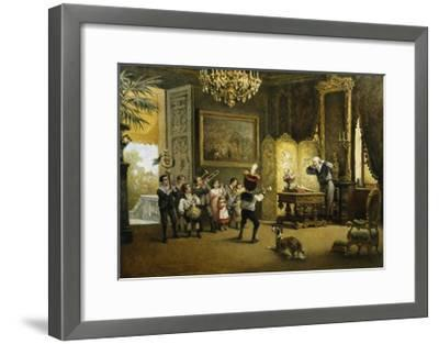The Brass Band-Cesare Felix Georges Dell'Acqua-Framed Giclee Print