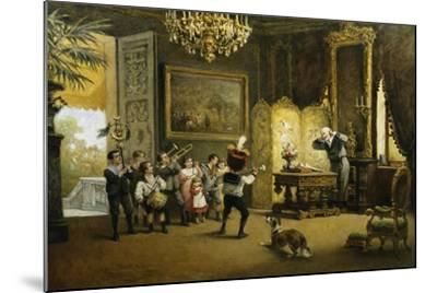 The Brass Band-Cesare Felix Georges Dell'Acqua-Mounted Giclee Print