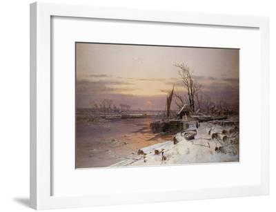 On the Estuary, Near Monmouth-Charles Brooke Branwhite-Framed Giclee Print
