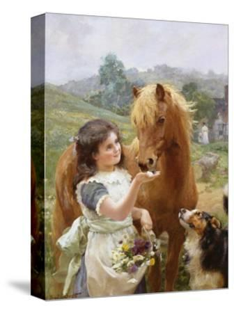 A Sweet Tooth-Alfred William Strutt-Stretched Canvas Print