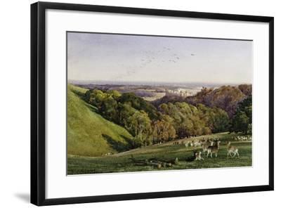 Evening in Arundel Park, Sussex, England-Charles James Adams-Framed Giclee Print