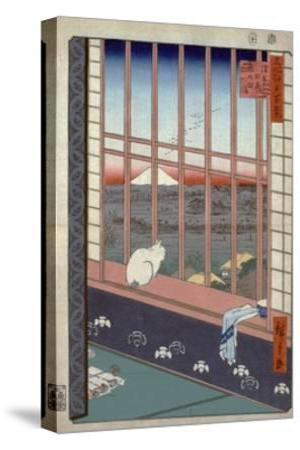Asakusa Ricefields and Torinomachi Festival-Ando Hiroshige-Stretched Canvas Print