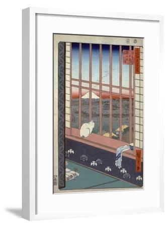Asakusa Ricefields and Torinomachi Festival-Ando Hiroshige-Framed Giclee Print