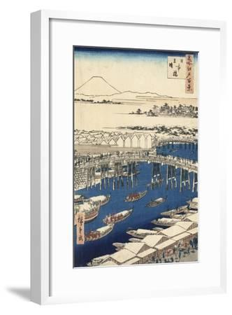 Nihonbashi, Clearing after Snow-Ando Hiroshige-Framed Giclee Print