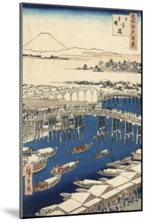 Nihonbashi, Clearing after Snow-Ando Hiroshige-Mounted Giclee Print