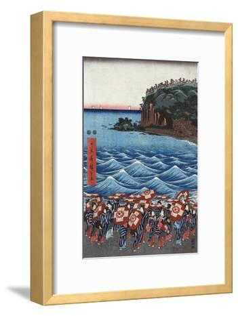 Opening Celebration of Benzaiten Shrine at Enoshima in Soshu-Ando Hiroshige-Framed Giclee Print