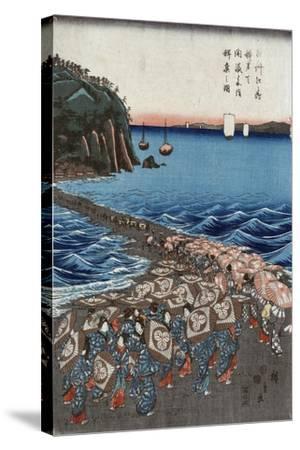 Opening Celebration of Benzaiten Shrine at Enoshima in Soshu-Ando Hiroshige-Stretched Canvas Print
