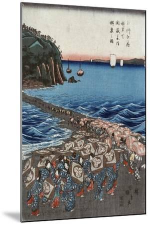 Opening Celebration of Benzaiten Shrine at Enoshima in Soshu-Ando Hiroshige-Mounted Giclee Print
