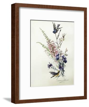 A Study of Heather, Cornflower, and Blossom-Madeleine Lemaire-Framed Giclee Print