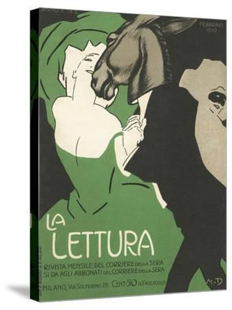 La Lettura Cover-Marchello Dudovich-Stretched Canvas Print