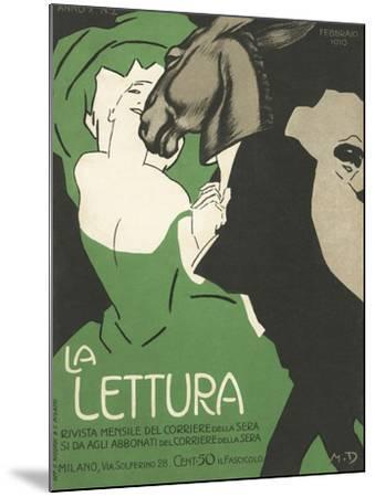 La Lettura Cover-Marchello Dudovich-Mounted Giclee Print