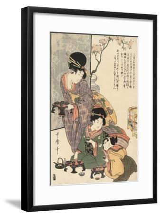 Girl's Festival (Hinamatsuri)-Kitagawa Utamaro-Framed Giclee Print