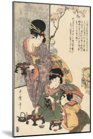 Girl's Festival (Hinamatsuri)-Kitagawa Utamaro-Mounted Giclee Print