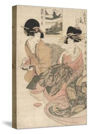 The Courtesan Tsukasa of ?giya-Kitagawa Utamaro-Stretched Canvas Print