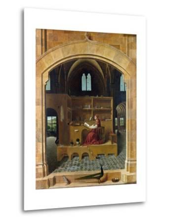 Saint Jerome in His Study-Antonello da Messina-Metal Print
