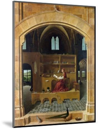 Saint Jerome in His Study-Antonello da Messina-Mounted Giclee Print
