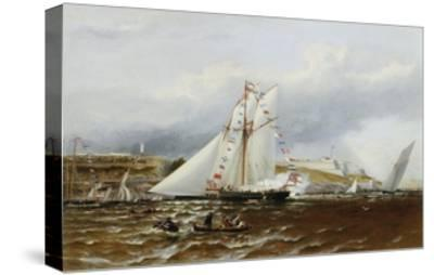 A Regatta at Plymouth, England-Henry A. Luscombe-Stretched Canvas Print