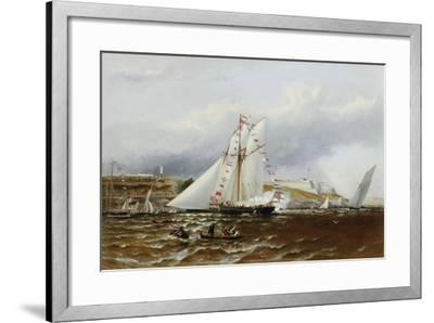 A Regatta at Plymouth, England-Henry A. Luscombe-Framed Giclee Print