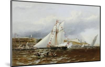 A Regatta at Plymouth, England-Henry A. Luscombe-Mounted Giclee Print