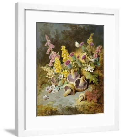Still Life of Floxgloves, Mushrooms, Snapdragons, and Thistles-Thomas Worsey-Framed Giclee Print
