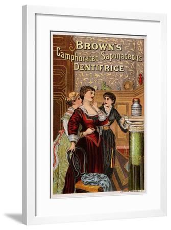 Brown's Camphorated Saponaceous Dentifrice Trade Card--Framed Giclee Print