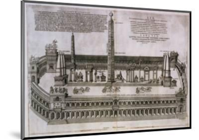 Plan of the Circus Maximus Engraving-Nicolas Beautrizet-Mounted Giclee Print