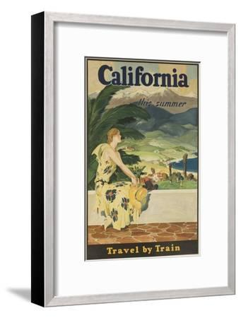 California This Summer Travel by Train--Framed Giclee Print