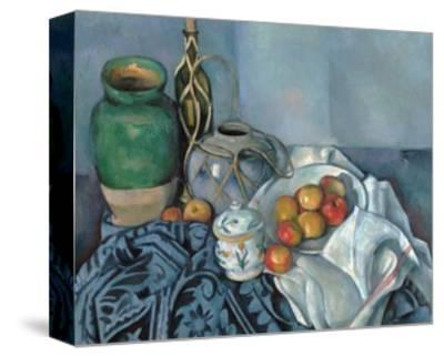 Still Life with Apples-Paul C?zanne-Stretched Canvas Print