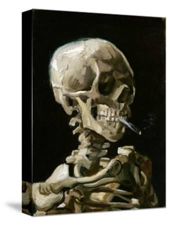 Head of a Skeleton with a Burning Cigarette-Vincent van Gogh-Stretched Canvas Print