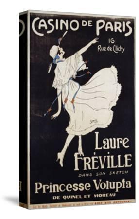 Casino De Paris Laure Freville Poster--Stretched Canvas Print