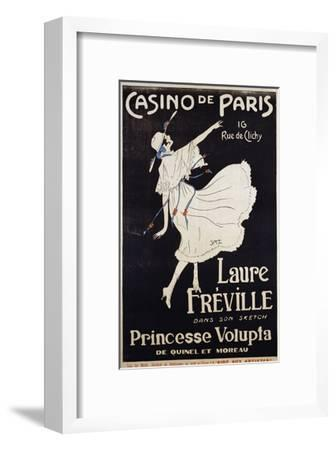 Casino De Paris Laure Freville Poster--Framed Premium Giclee Print