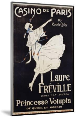 Casino De Paris Laure Freville Poster--Mounted Premium Giclee Print