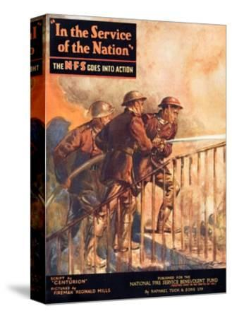 A Contemporary Word War Ii Booklet for the National Fire Service Benevolent Fund--Stretched Canvas Print
