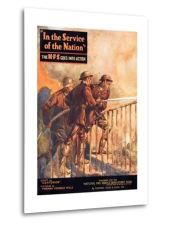 A Contemporary Word War Ii Booklet for the National Fire Service Benevolent Fund--Metal Print