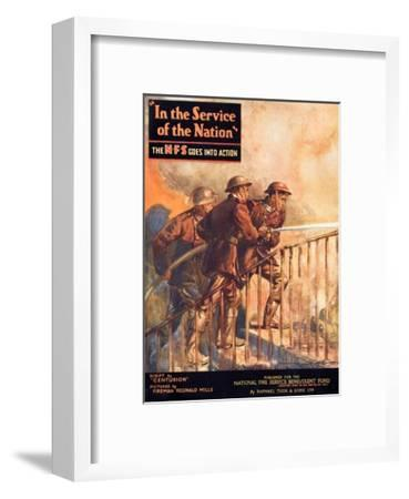 A Contemporary Word War Ii Booklet for the National Fire Service Benevolent Fund--Framed Giclee Print