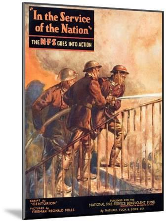 A Contemporary Word War Ii Booklet for the National Fire Service Benevolent Fund--Mounted Giclee Print