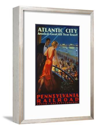 Atlantic City Pennsylvania Railroad Poster--Framed Premium Giclee Print