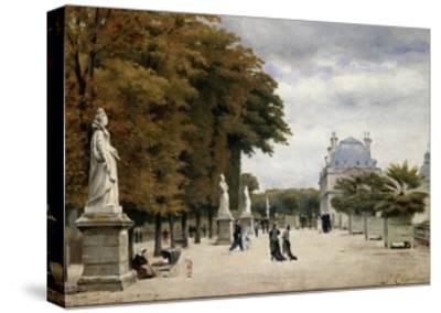 The Luxembourg Gardens, Paris, France-Stanislas-Victor-Edmond Lepine-Stretched Canvas Print