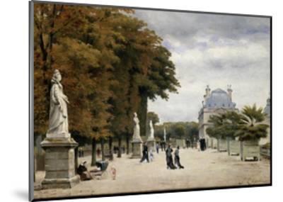 The Luxembourg Gardens, Paris, France-Stanislas-Victor-Edmond Lepine-Mounted Giclee Print