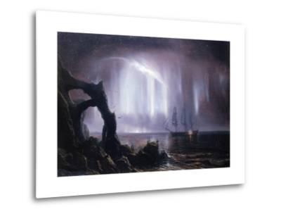 The Northern Lights (Aurora Borealis)-Theodore Gudin-Metal Print