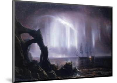 The Northern Lights (Aurora Borealis)-Theodore Gudin-Mounted Giclee Print