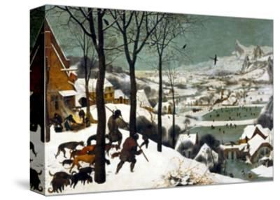 Hunters in the Snow (Winter)-Pieter Bruegel the Elder-Stretched Canvas Print